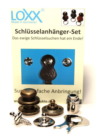 Loxx Schlüsselanhänger Set - glatter Kopf Altmessing – Bild 1