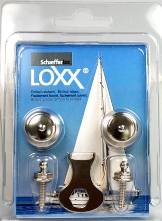 Loxx Box Nickel - 2 Kopf groß, 2 Schrauben 16mm