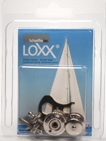 Loxx Box Edelstahl - 2 Kopf groß 2 Schrauben 16mm