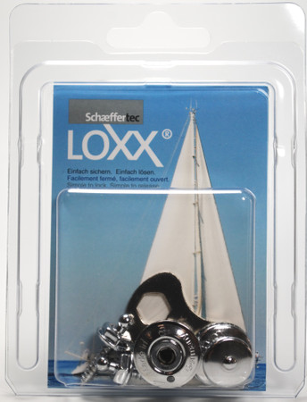 Loxx Box Chrome - 2 Big head 2 Screws 16mm