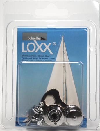 Loxx Box Chrom - 2 Kopf groß 2 Schrauben 16mm
