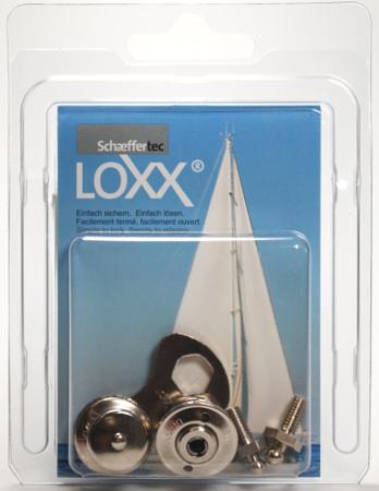 Loxx Box Nickel - 2 Kopf groß 2 Schrauben M5x10