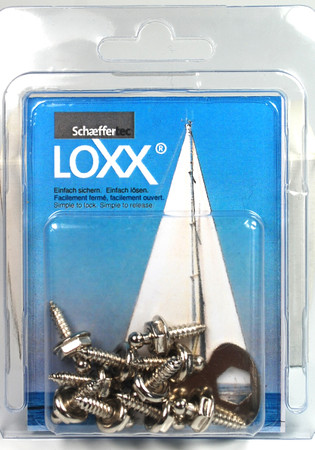 Loxx Box Nickel - 10 Screws 12mm