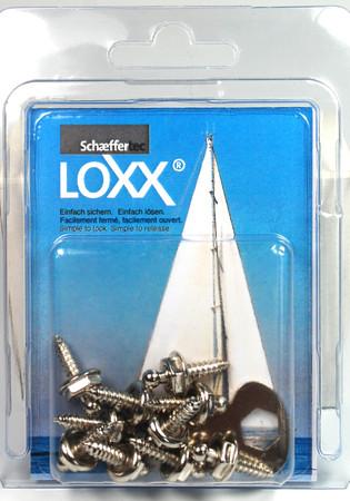 Loxx Box Nickel - 10 Schrauben 12mm