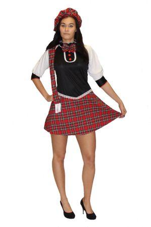 Sexy Schulmädchen Schottin Kostüm