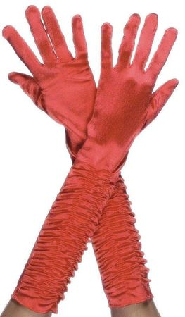 Handschuhe lang Rot glänzend lange rote Kostüm Fasching