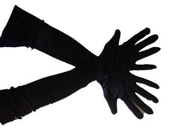 lange Handschuhe, schwarz