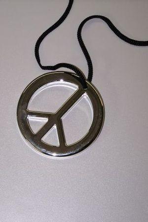 Medaillon Peace Umhänger Peaceumhänger Hippie Proll