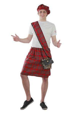 Kostüm Schotte Schottenrock Schottland Karneval Kostüme