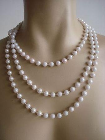 20er Jahre Perlenkette 180cm für Charleston Kostüm Perlen Kette 20iger