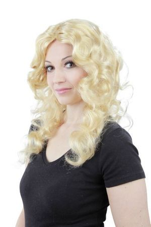 blonde Locken Langhaar Model Damen Perücke