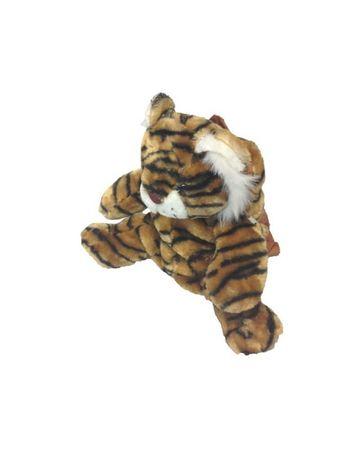 Deluxe Kinderrucksack Tiger Rucksack braun Plüsch 30 cm Tigerrucksack brauner Tiger Kind für Kinder Träger verstellbar