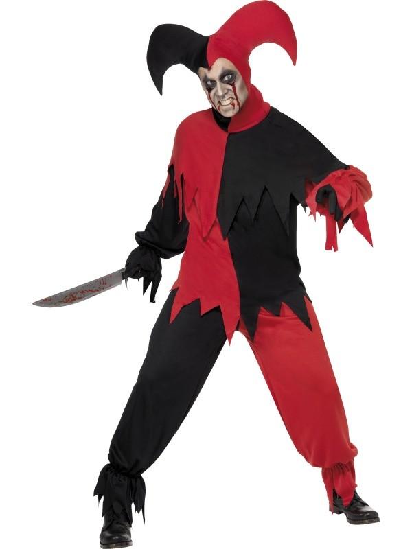 Herrenkostum Kostum Fur Herren Dunkler Narr Rot Schwarz Narrenkostum