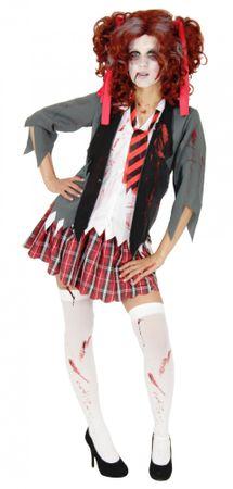 Blutiges Zombie Schulmädchen Kostüm