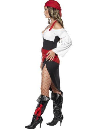 Piratin Piratinnenkostüm Kostüm Pirat Freibeuterin Piratenkostüm für Damen Damenkostüm Gr. 36/38 (S), 40/42 (M), 44/46 (L)