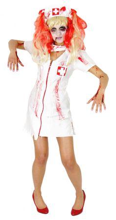 Zombie Krankenschwester Kostüm für Damen und Mädchen