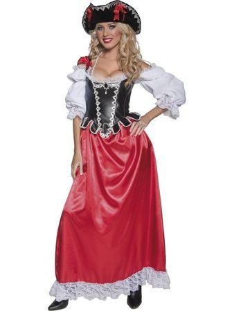 Edles Piratenkostüm Kostüm Piratin Seeräuberin Gr. 36/38 (S), 40/42 (M), 44/46 (L)