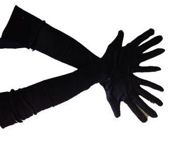 [Paket] Handschuhe schwarz lange schwarze lang Halloween Kostüm