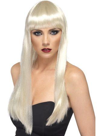 Cher 80er Jahre Perücke blond Langhaar glatt Fasching