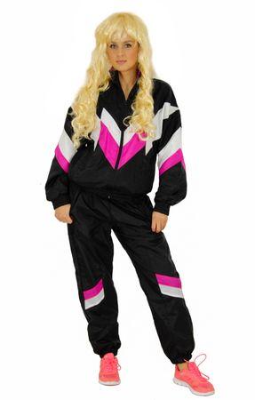80er Jahre Deluxe Kostüm Trainingsanzug Assianzug