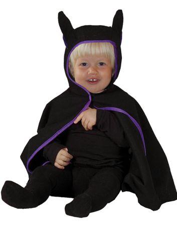 Baby Fledermaus Cape schwarz Babykostüm Halloween Gr. 80- 98