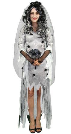 Zombie Geister Braut Kostüm für Damen