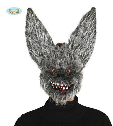 Halloween Maske böses Kaninchen mit Haaren