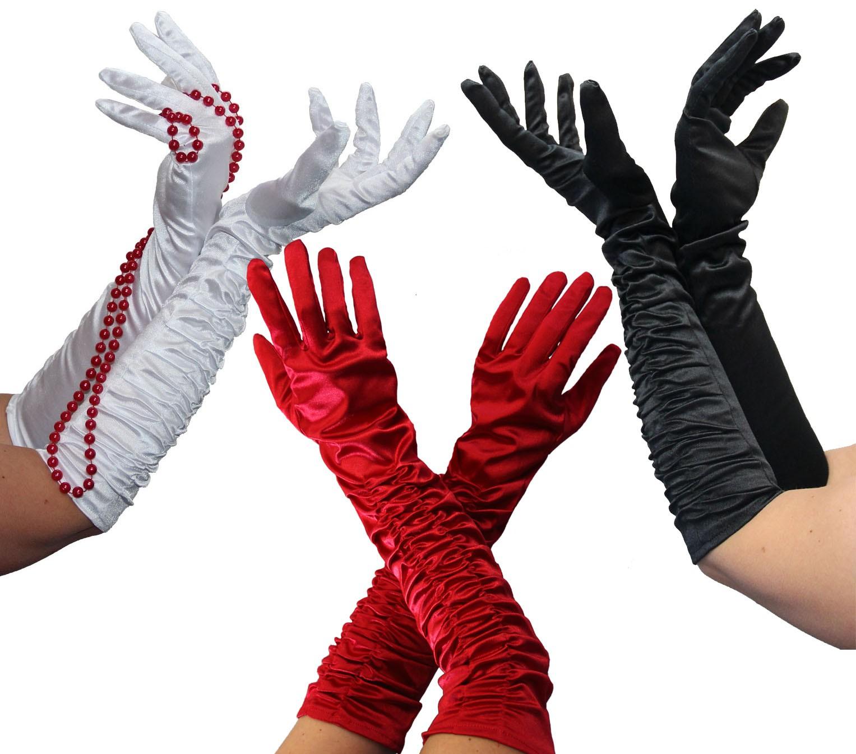 36e1ec527bf4bd Foxxeo 1002X | Lange Deluxe Handschuhe | In den Farben schwarz, weiß, rot