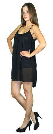 Damen Sommerkleid Chiffon Strandkleider sexy rückenfrei schwarz