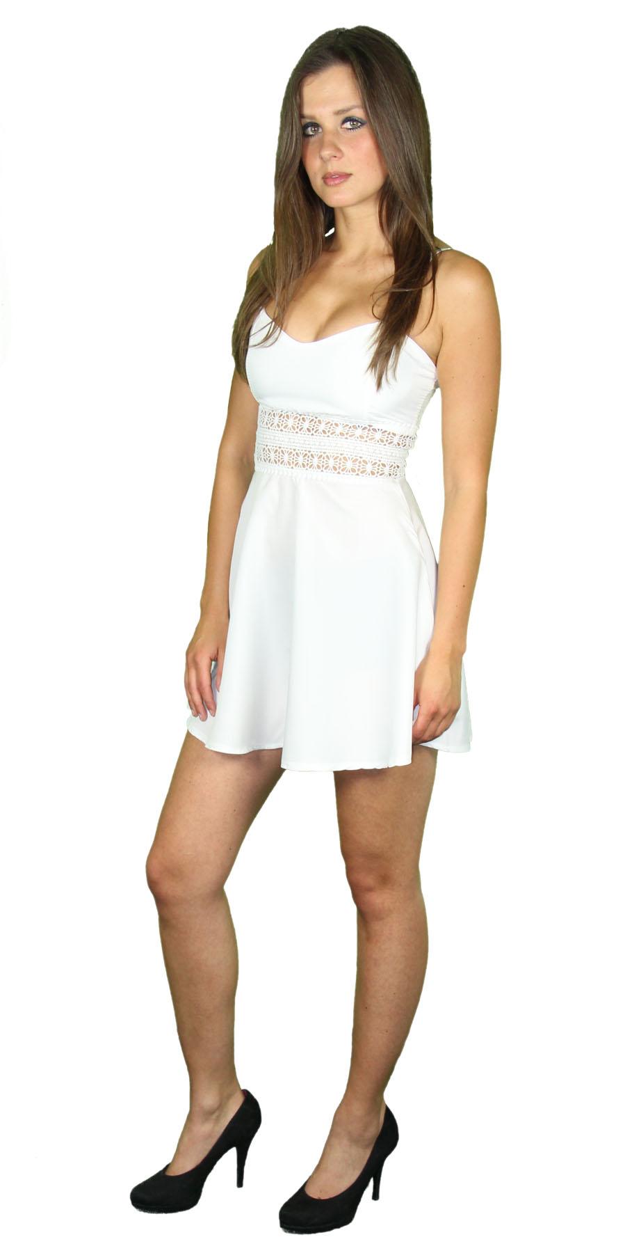 Sexy Sommerkleid kurz Strandkleid Partykleid Cocktailkleid weiß