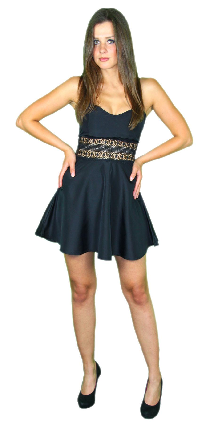 Sexy Sommerkleid kurz Strandkleid Partykleid Cocktailkleid schwarz