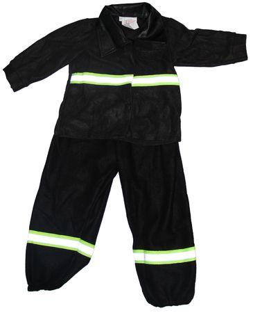 Baby Kostüm Feuerwehrkostüm schwarz Gr. 74 - 98