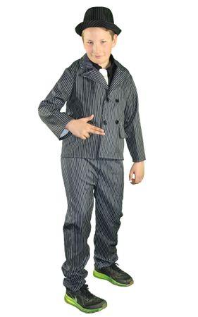 Mafiaboss Gangster Anzug Kinderkostüm Der Pate Nadelstreifen Kostüm