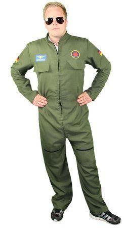 Jetpilot Fliegeranzug Kostüm für Herren