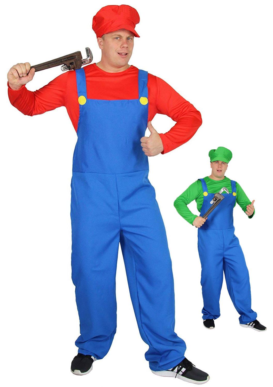 ddaeea4a7ef9c rotes Super Klempner Kostüm für Herren zu Karneval und Fasching