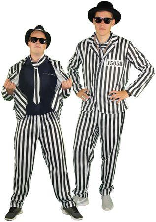 Anzug Sträfling Gefangener Kostüm für Herren