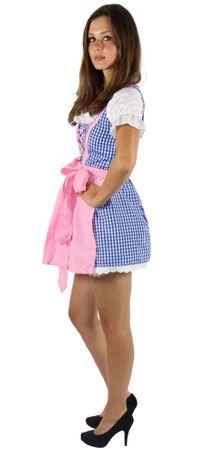Dirndl für Damen blau/weiß/rosa kariert