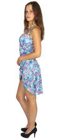 sexy Hawaii-Kleid mit Blumenprint Gr. XS-XL