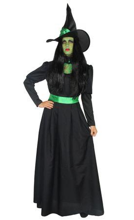 Grüne Hexe - Hexenkostüm lang mit Hut für Damen
