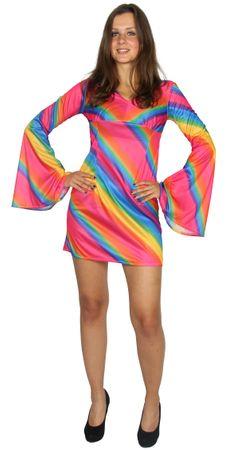 70er Jahre Regenbogen Kleid für Damen