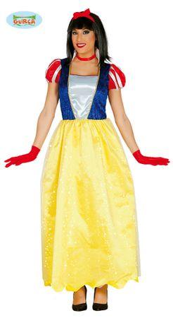 langes Schneewittchen Kleid für Damen Gr. M/L