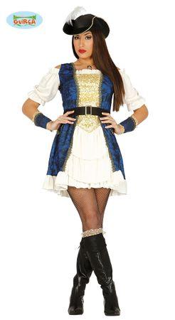 Deluxe Piratin Kleid Kostüm für Damen Gr. M-L