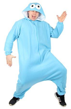 Blaues Monster Overall für Erwachsene