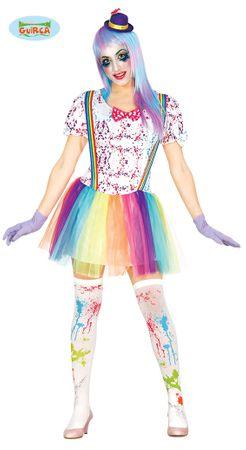 buntes Clown Kostüm für Damen Gr. M