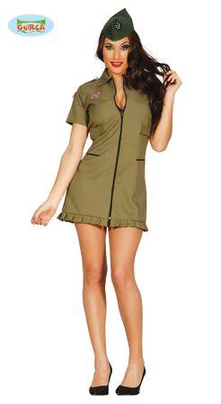 sexy Militär Soldatin Kostüm für Damen Gr. M-L