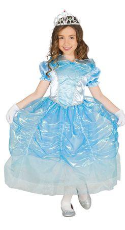 blaues Prinzessin Kostüm für Mädchen