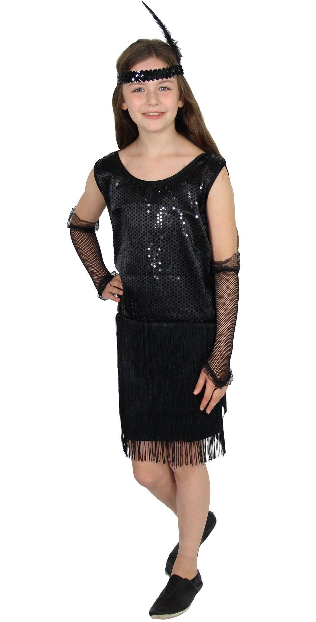 20er Jahre Mädchen Kleid Charleston Kostüm