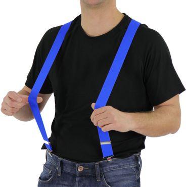 80er Jahre Hosenträger blau blaue Kostüm Fasching Hosen Träger