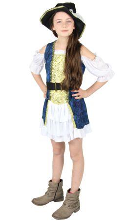 Piratenkostüm Mädchen Kleid Piraten blau Kostüm