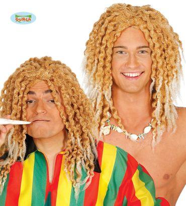 blonde Rasta Hippie Perücke für Herren
